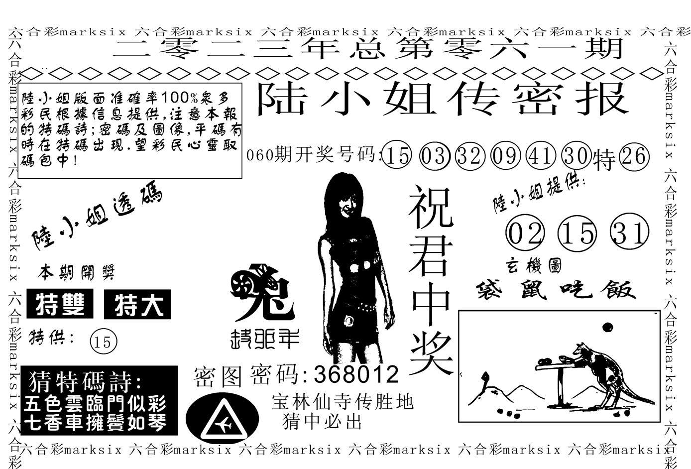 061期陆小姐传密A(黑白)