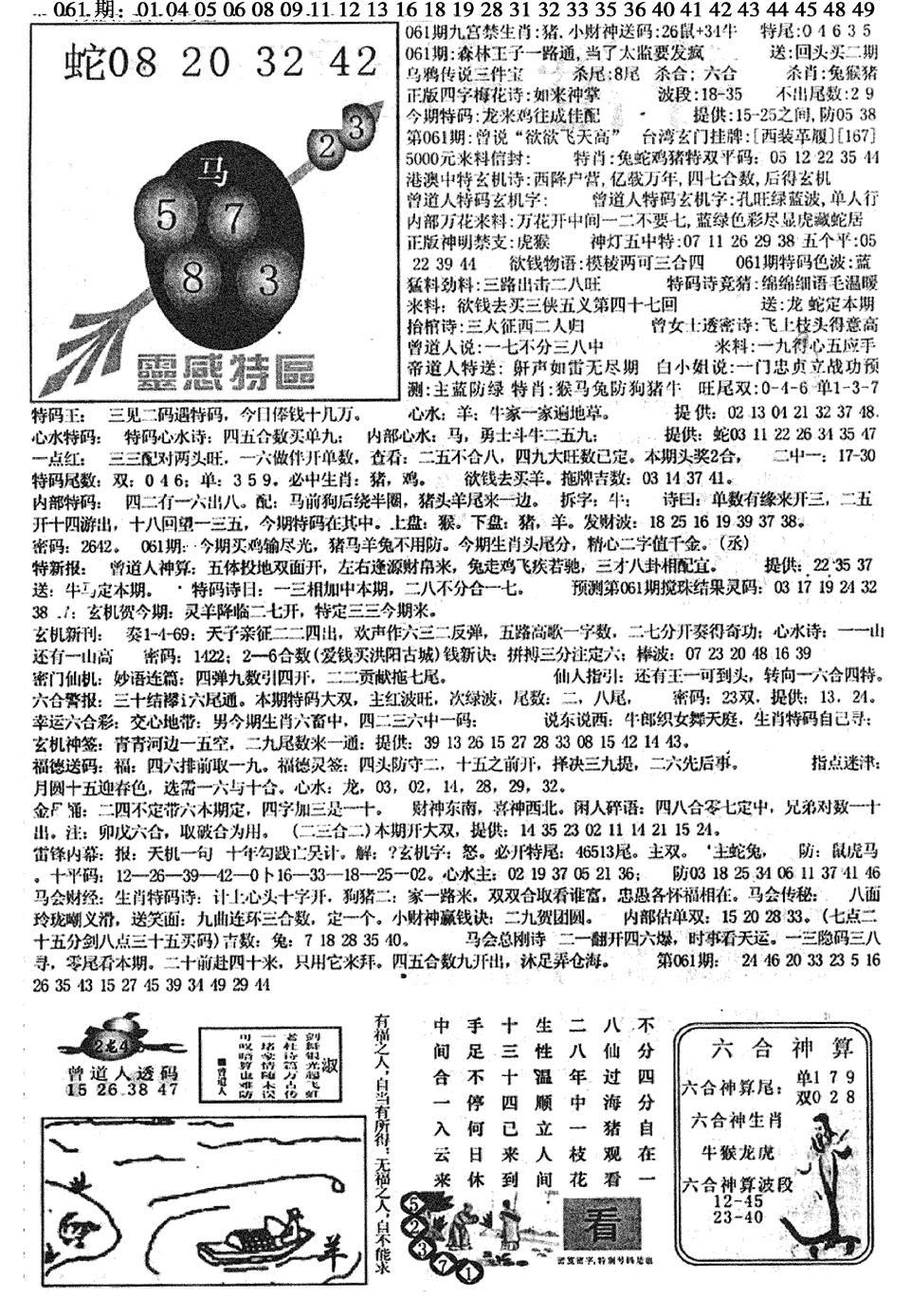 061期平西版彩霸王B(黑白)