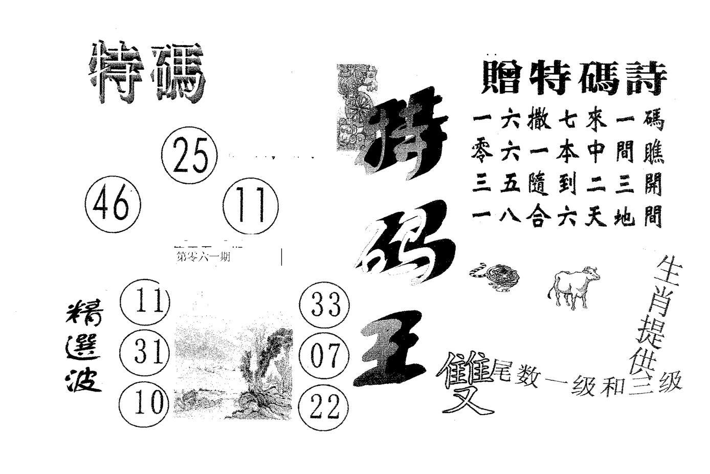 061期特码王B(黑白)