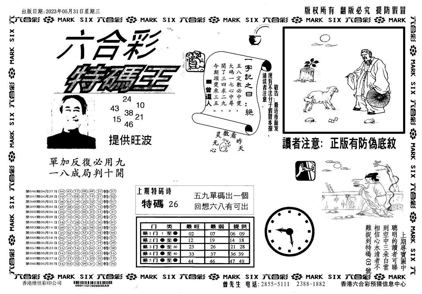 061期新特码王(黑白)