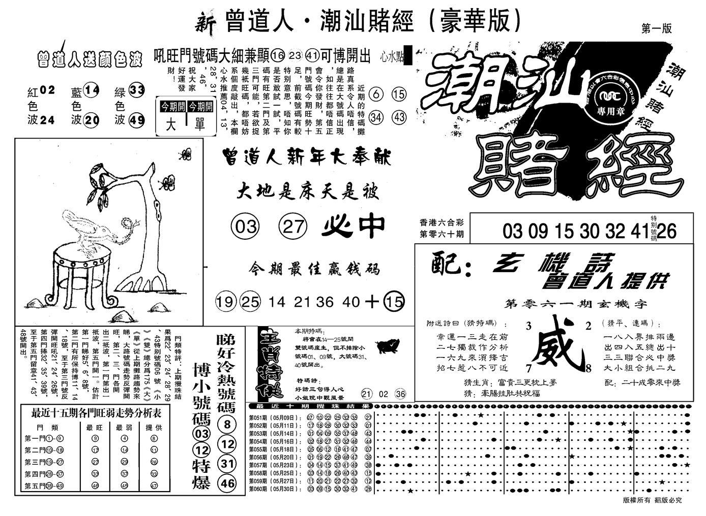 061期另潮汕赌经濠华版A(黑白)