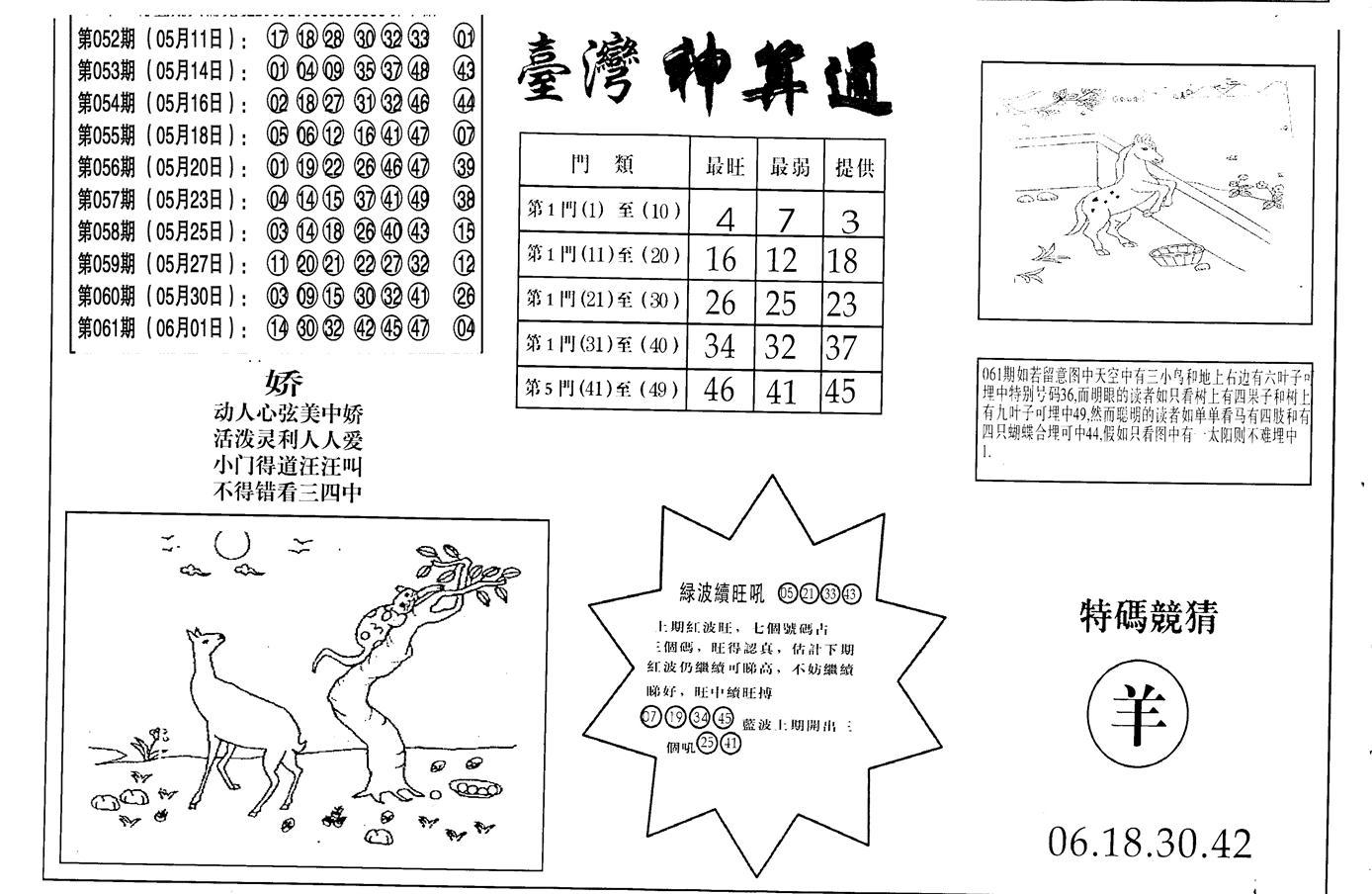 062期老潮汕台湾神算(黑白)