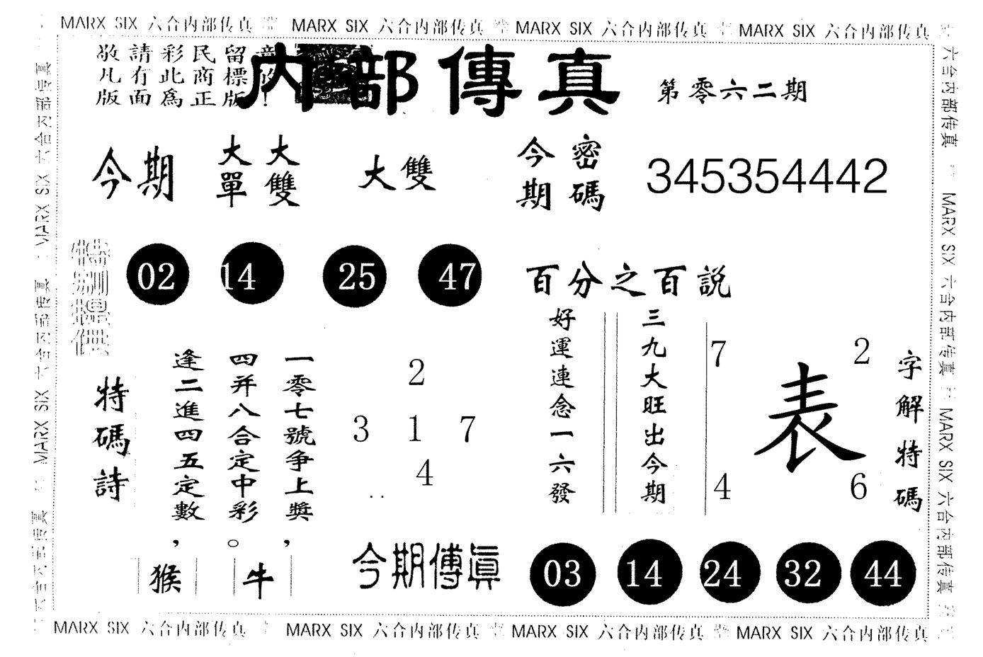 062期内部传真(黑白)