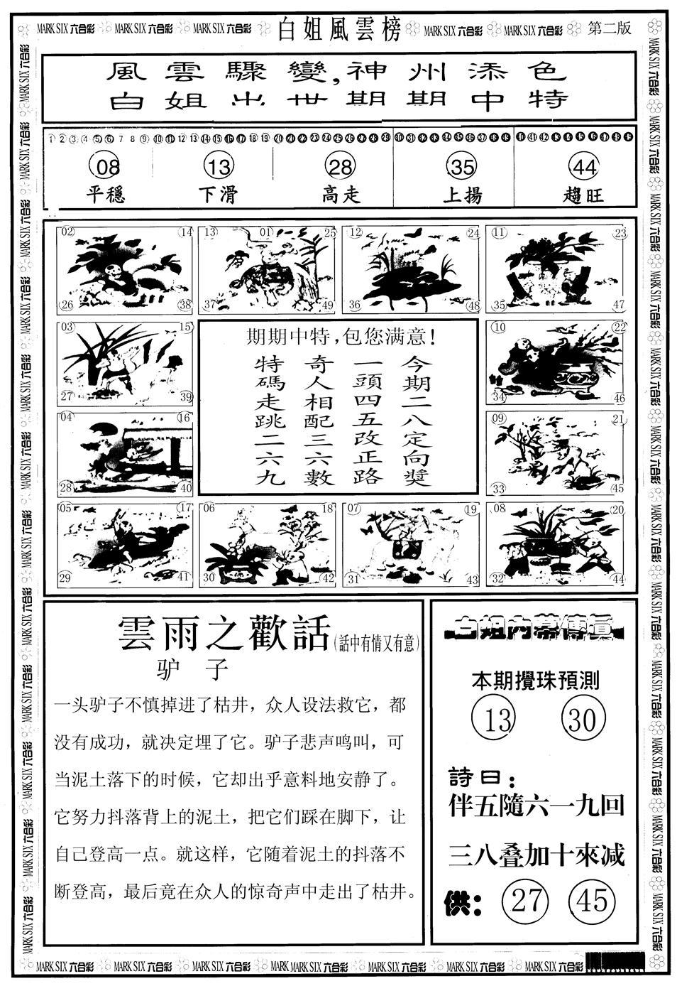 062期白姐风云榜B(黑白)