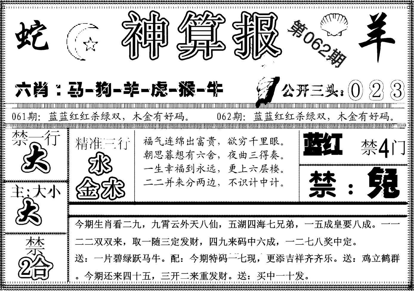 062期另神算报(黑白)