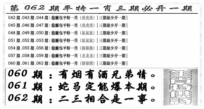 062期玄机特码(黑白)