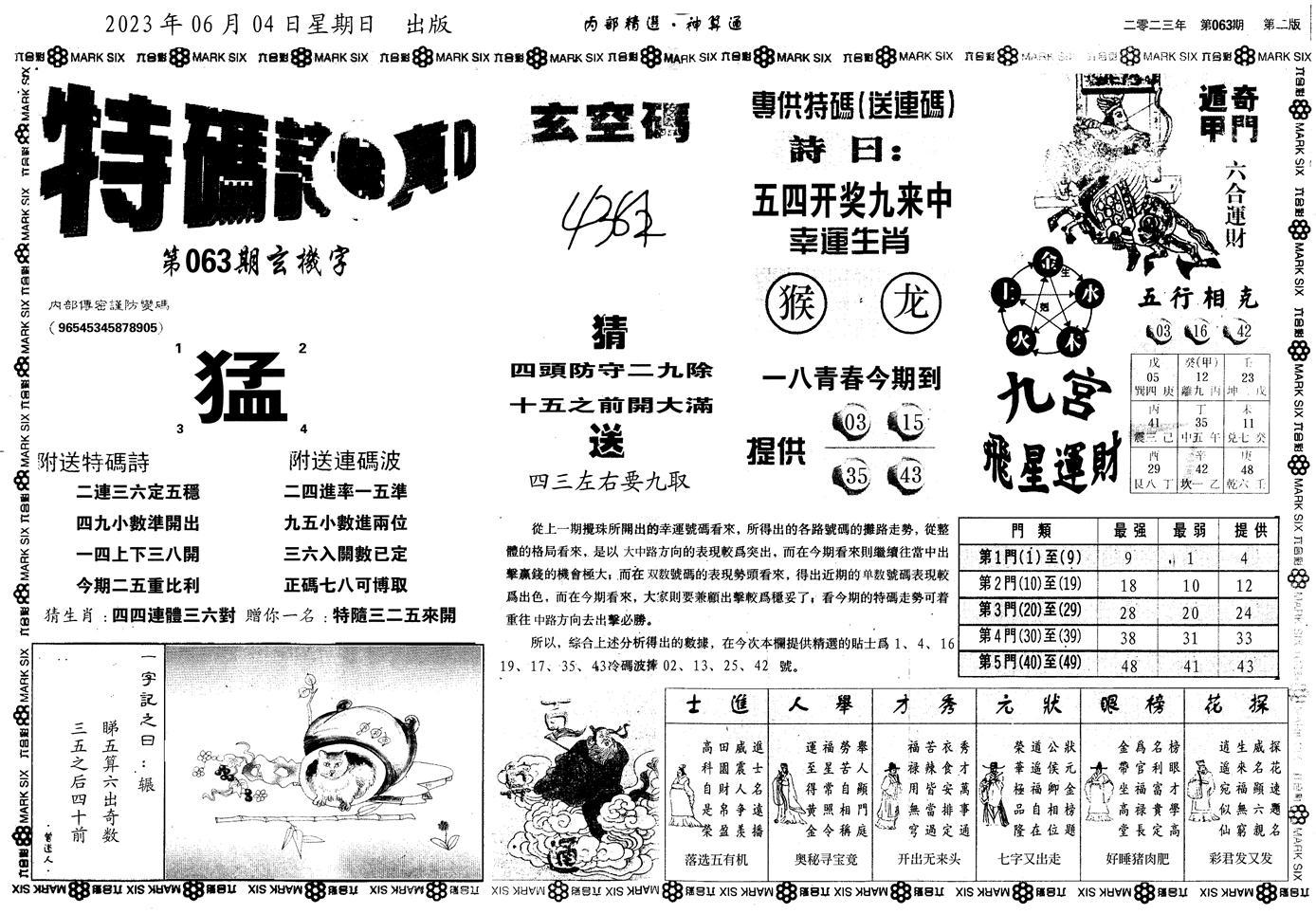 063期内部精选神算通B(黑白)