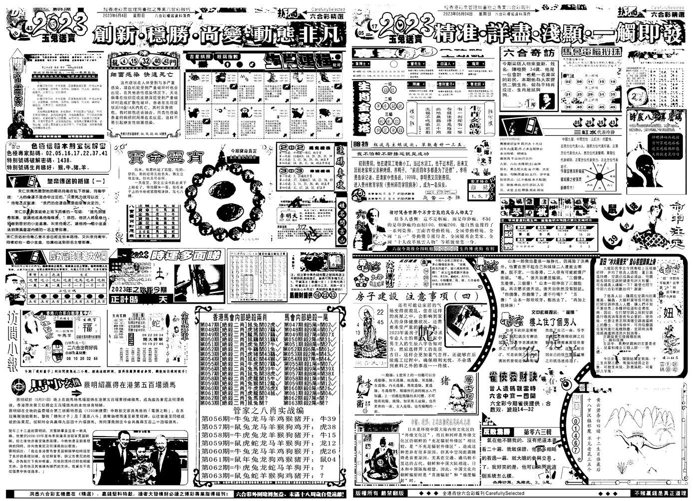 063期六合精选B(黑白)