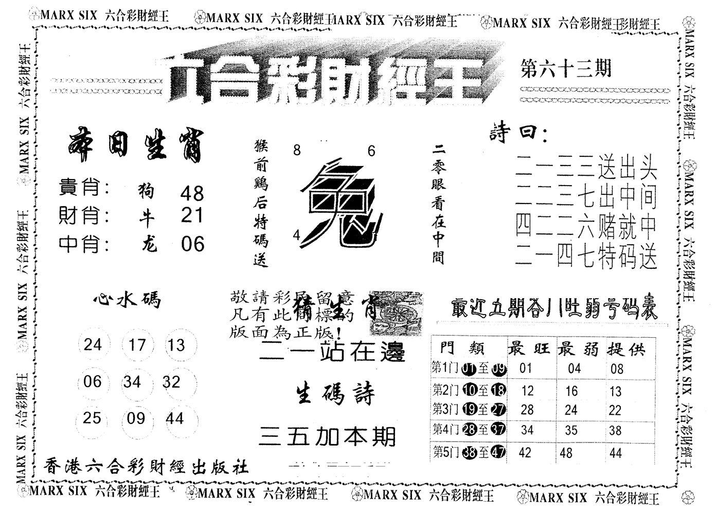 063期另版财经王一(黑白)