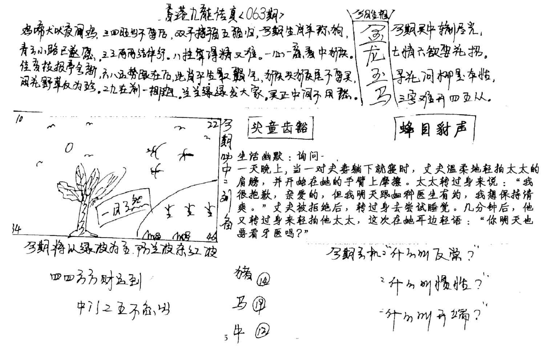 063期手写九龙内幕A(黑白)