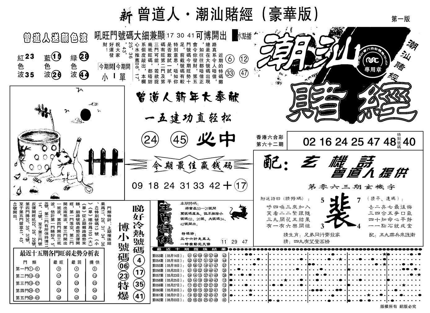 063期另潮汕赌经濠华版A(黑白)