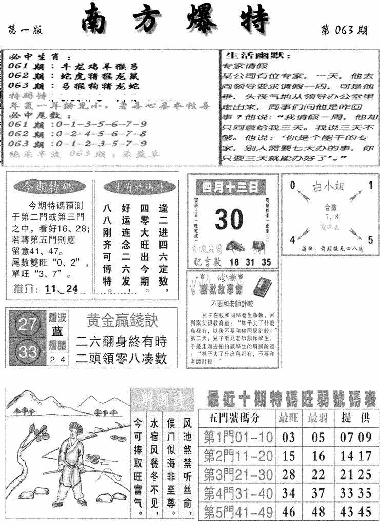 063期南方爆特A(黑白)