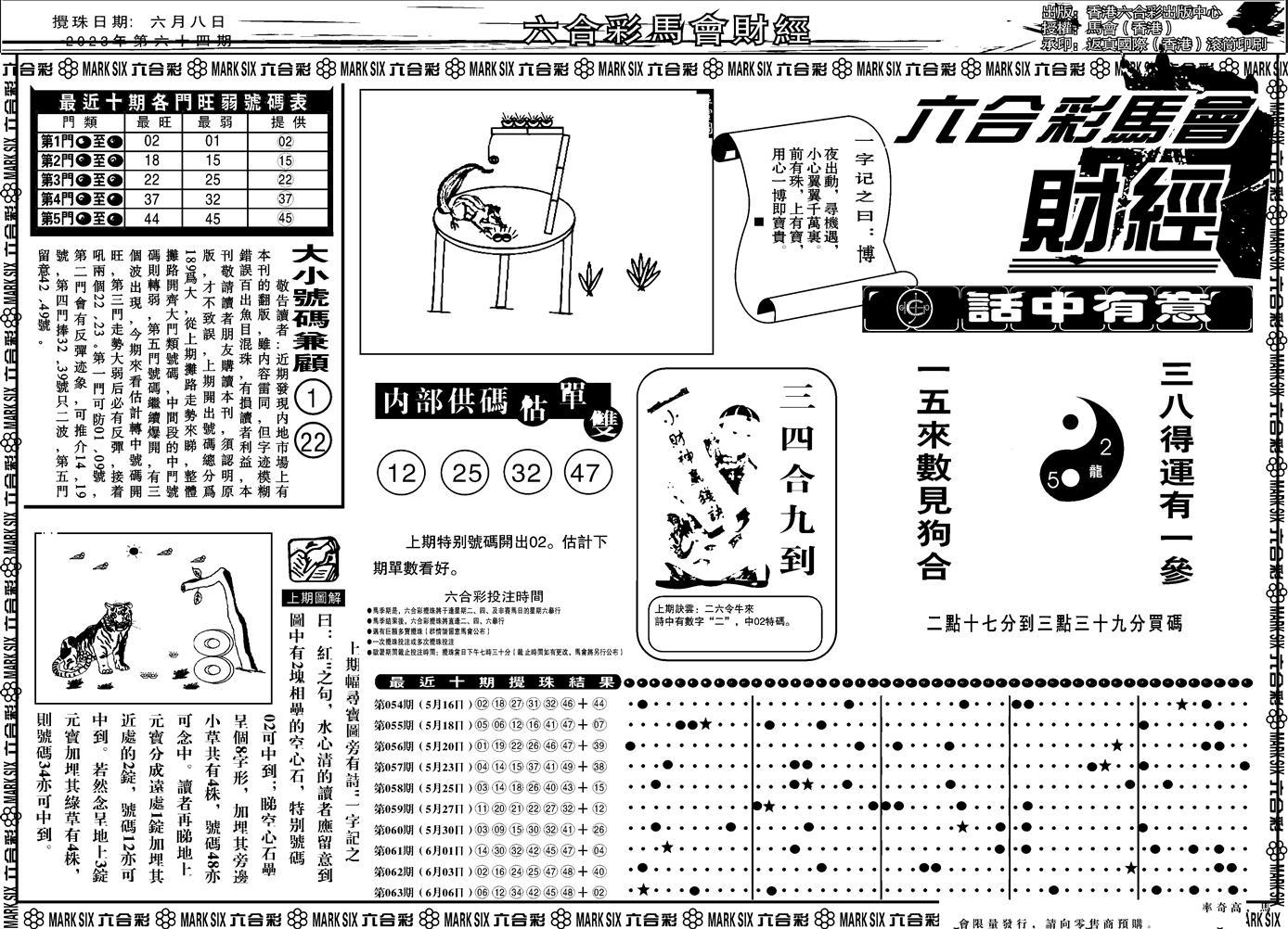 064期马会财经A(黑白)