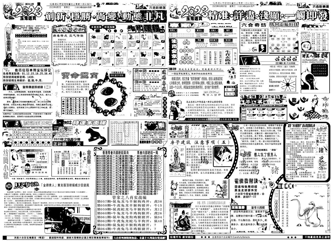 064期六合精选B(黑白)