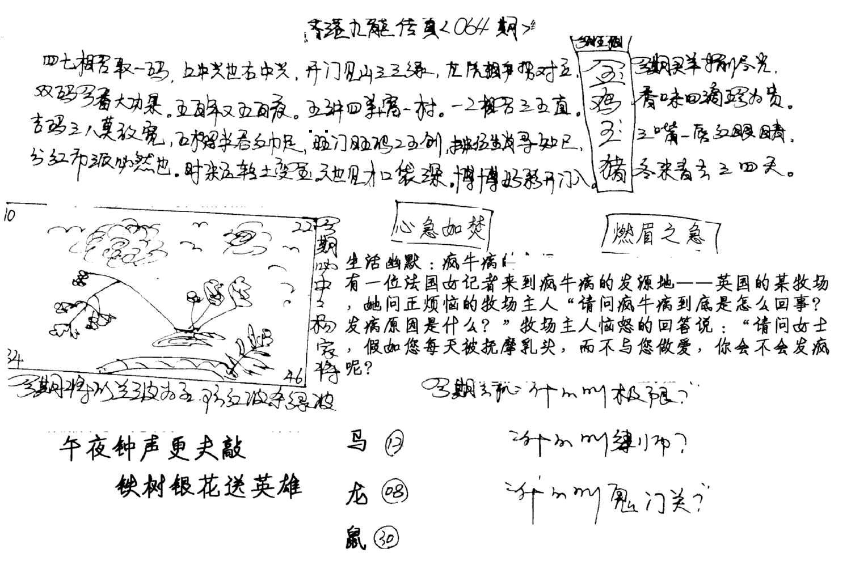 064期手写九龙内幕A(黑白)