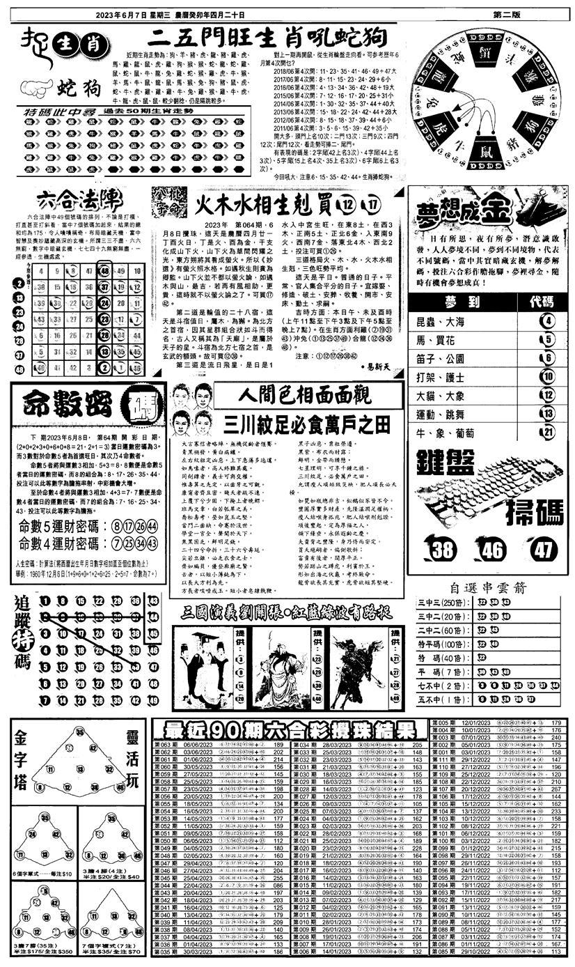 064期新报跑狗4(黑白)