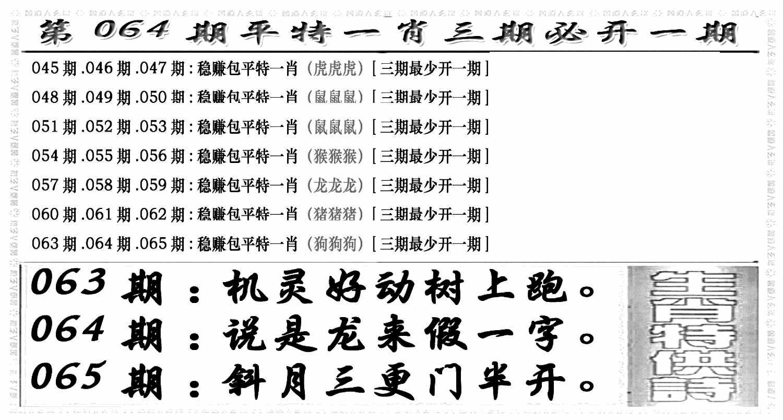 064期玄机特码(黑白)