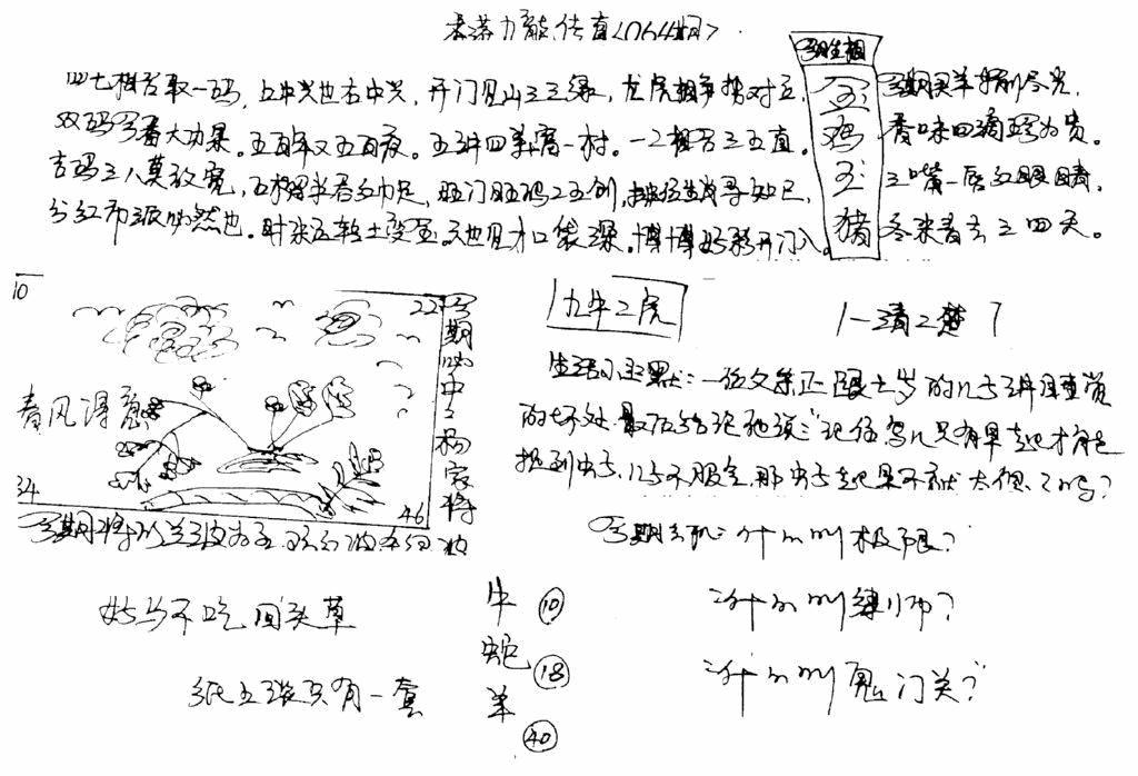 064期手写九龙内幕(早图)(黑白)