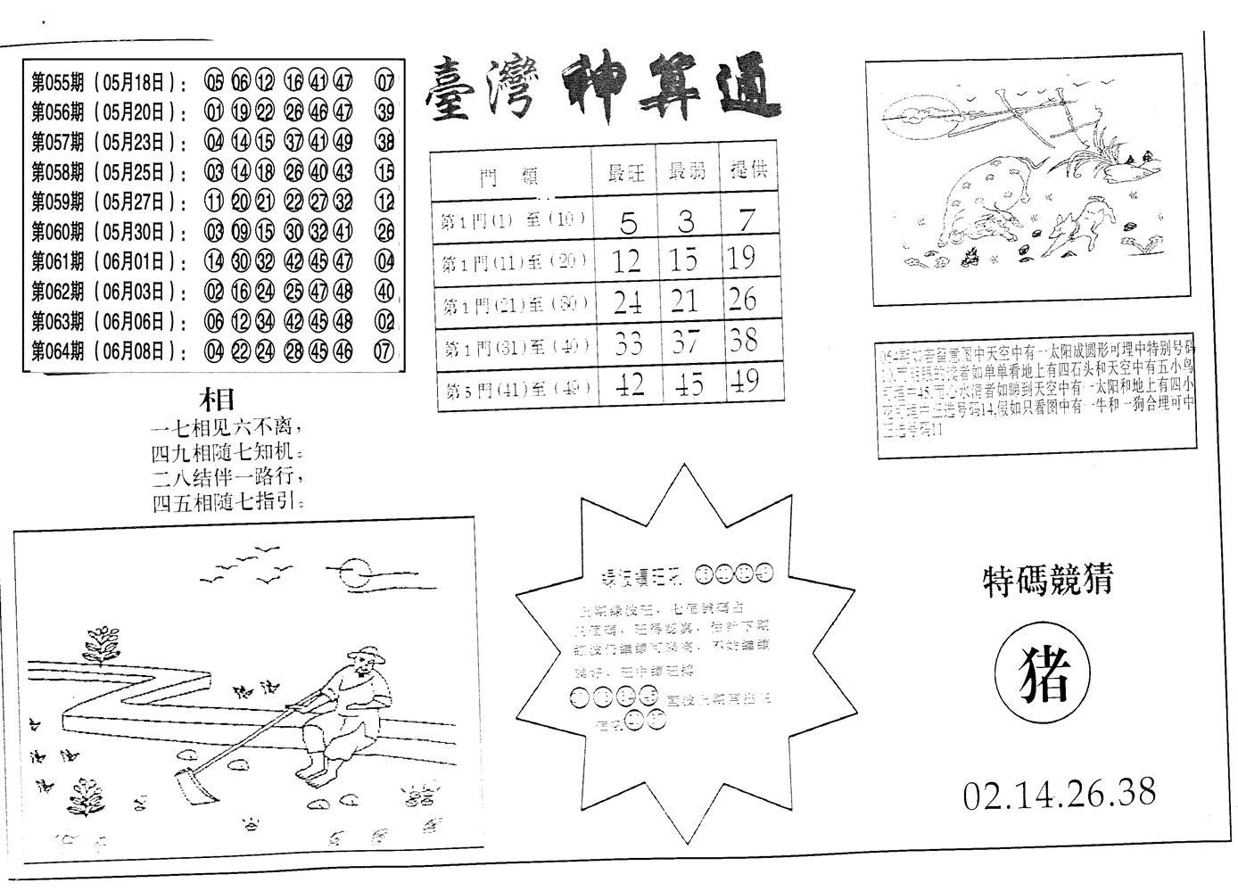 065期老潮汕台湾神算(黑白)