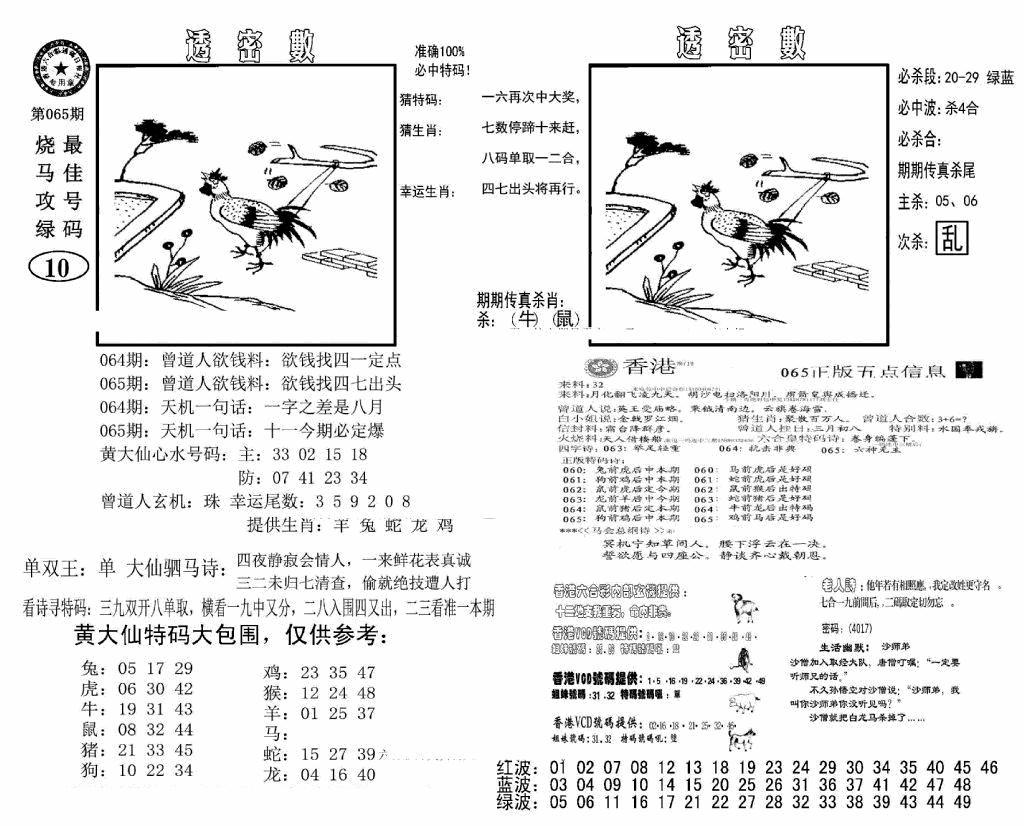 065期诸葛透密数(黑白)