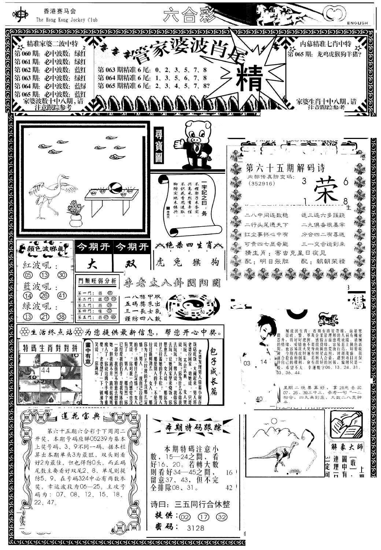 065期管家婆-波肖尾版(热)(黑白)