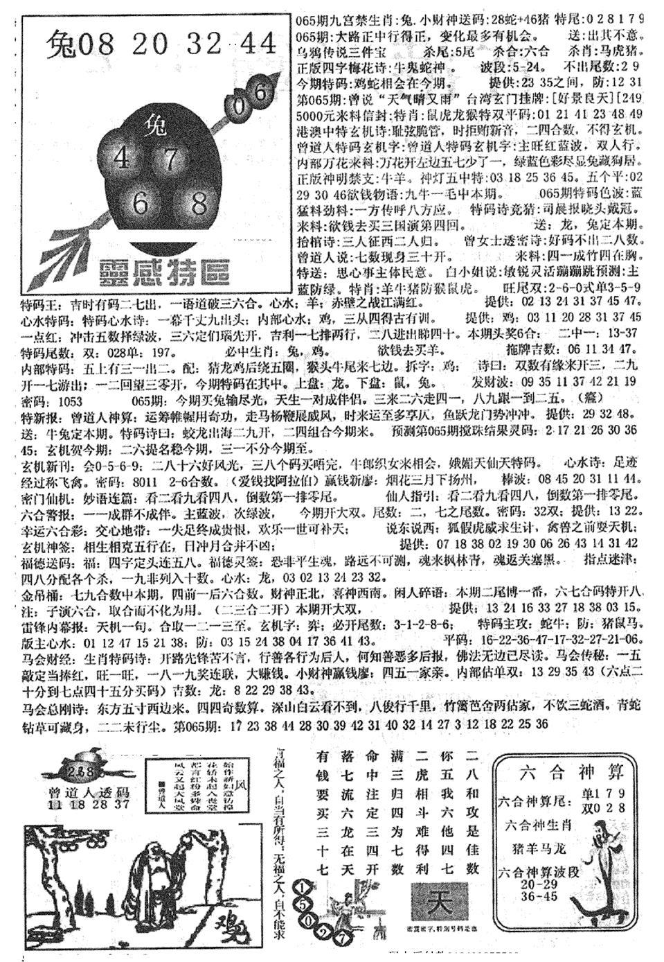 065期平西版彩霸王B(黑白)