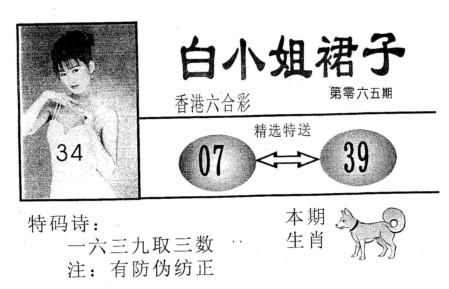 065期白姐裙子(黑白)