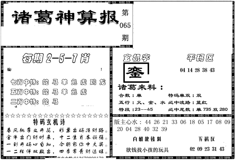 065期另新诸葛神算报(黑白)