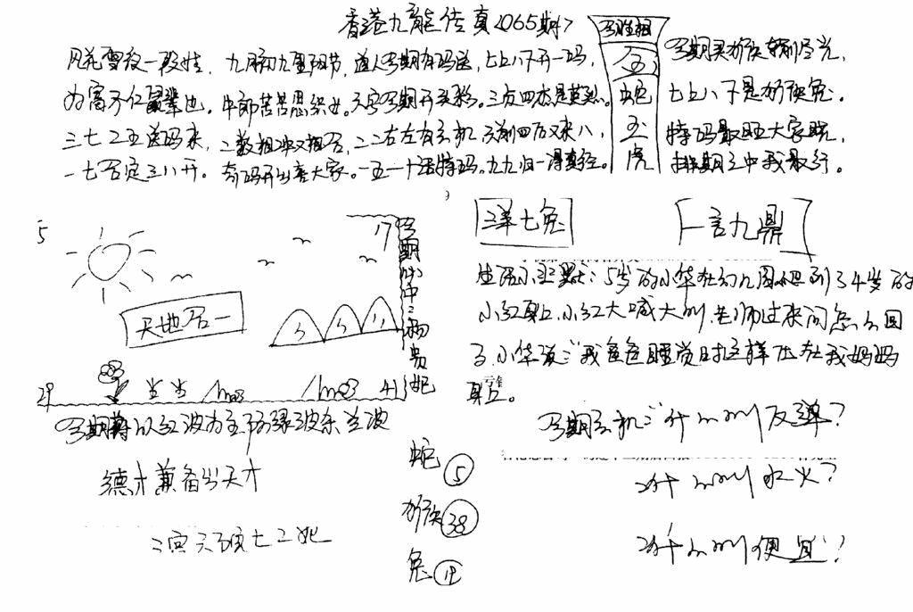 065期手写九龙内幕B(黑白)