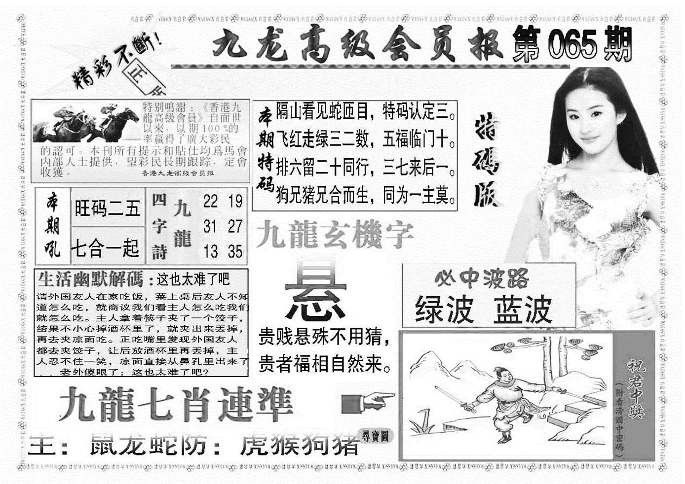 065期九龙高级会员报(黑白)
