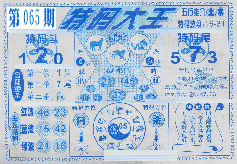 065期特码大王(黑白)