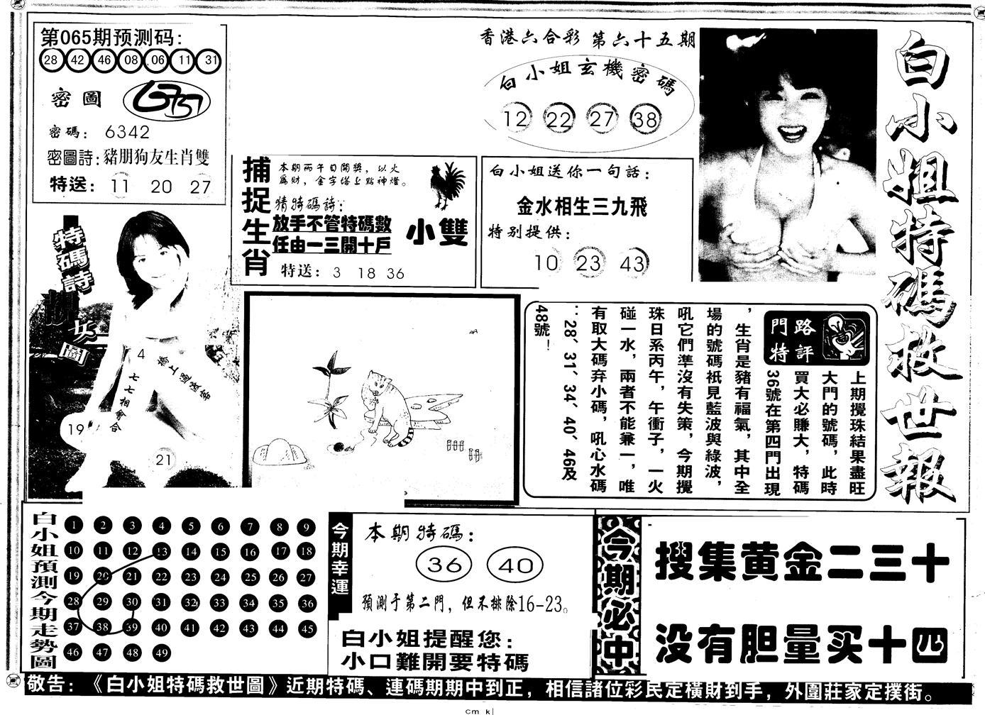065期另版白姐特救世A(黑白)