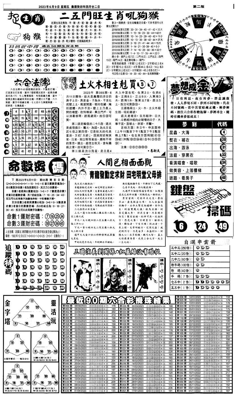 065期新报跑狗3(黑白)