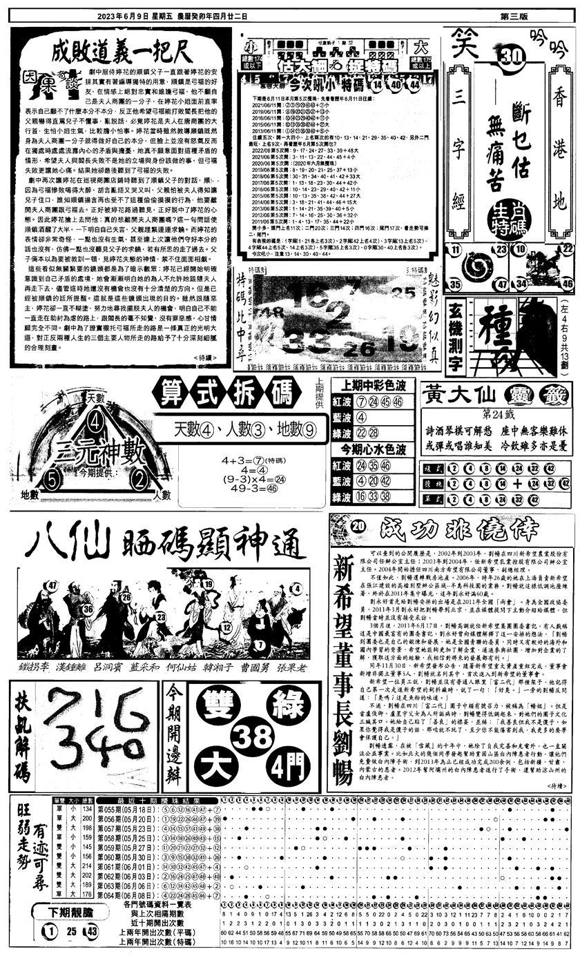 065期新报跑狗4(黑白)