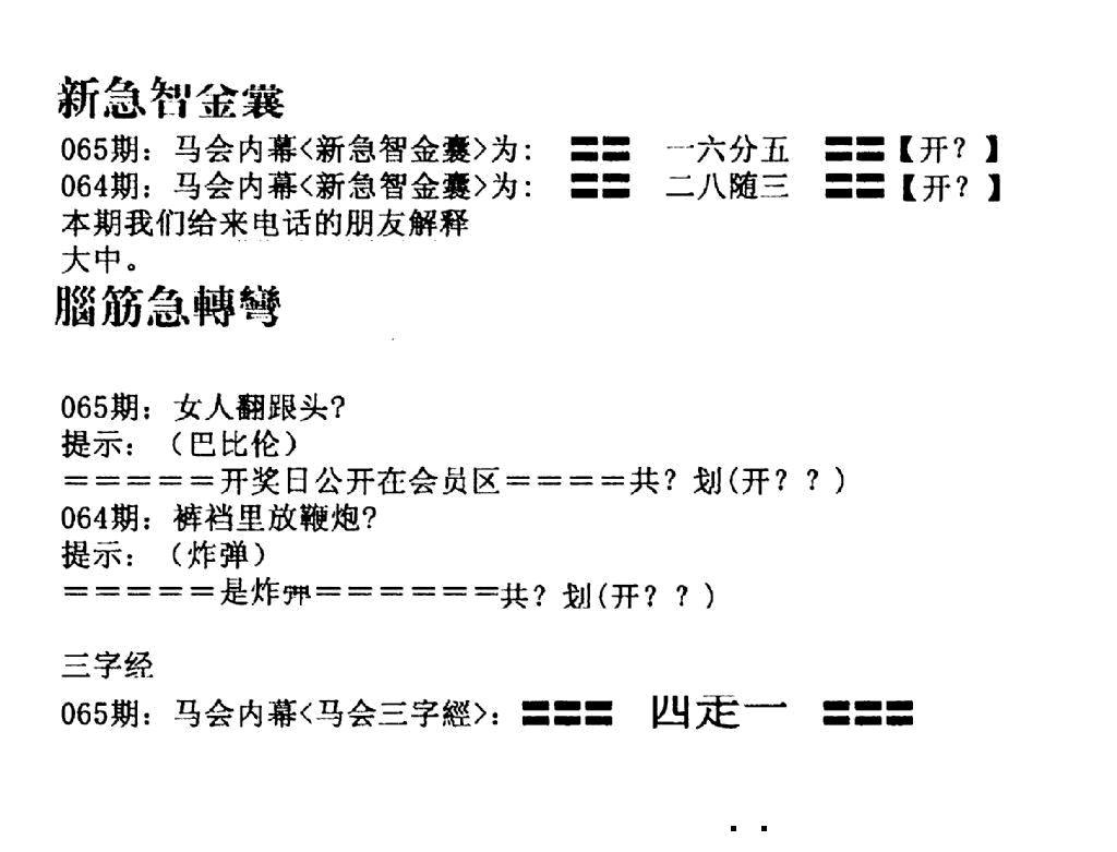 065期新急智金囊(黑白)