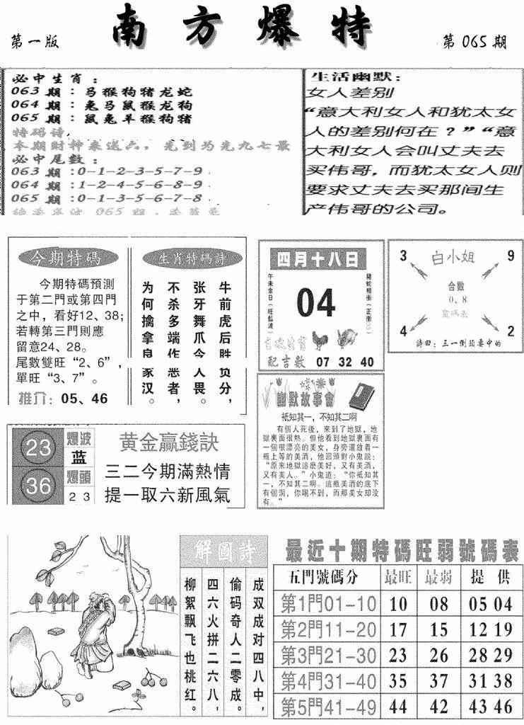 065期南方爆特A(黑白)