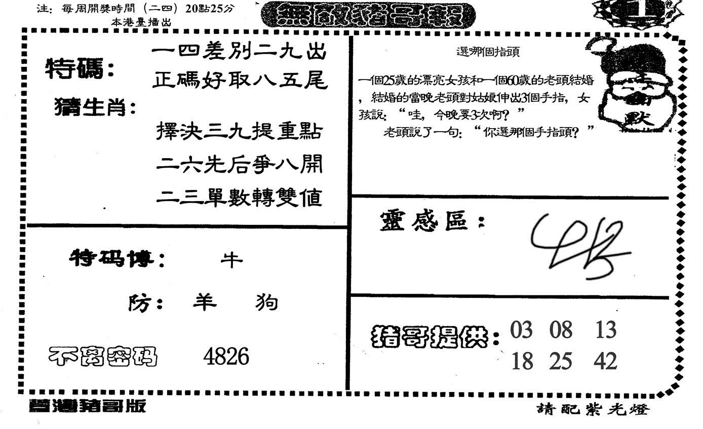 066期无敌猪哥-1(黑白)