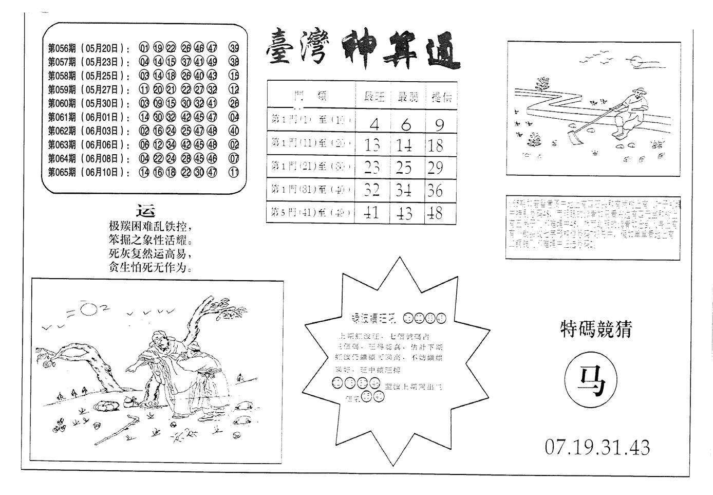 066期老潮汕台湾神算(黑白)