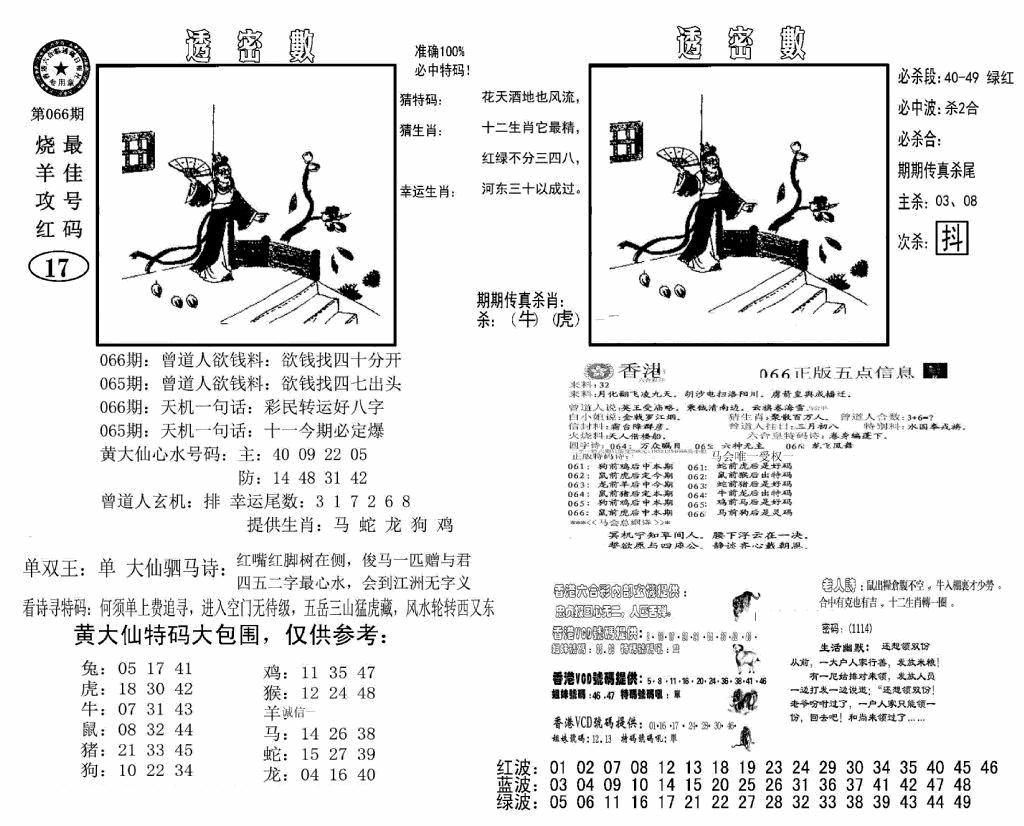 066期诸葛透密数(黑白)