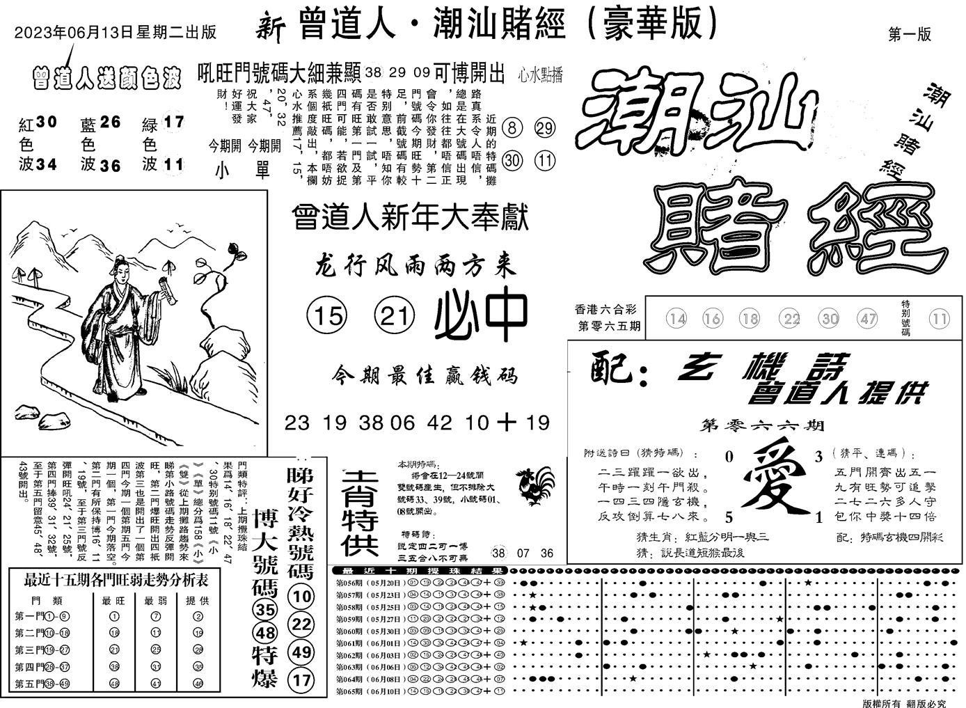 066期潮汕赌经濠华版A(黑白)