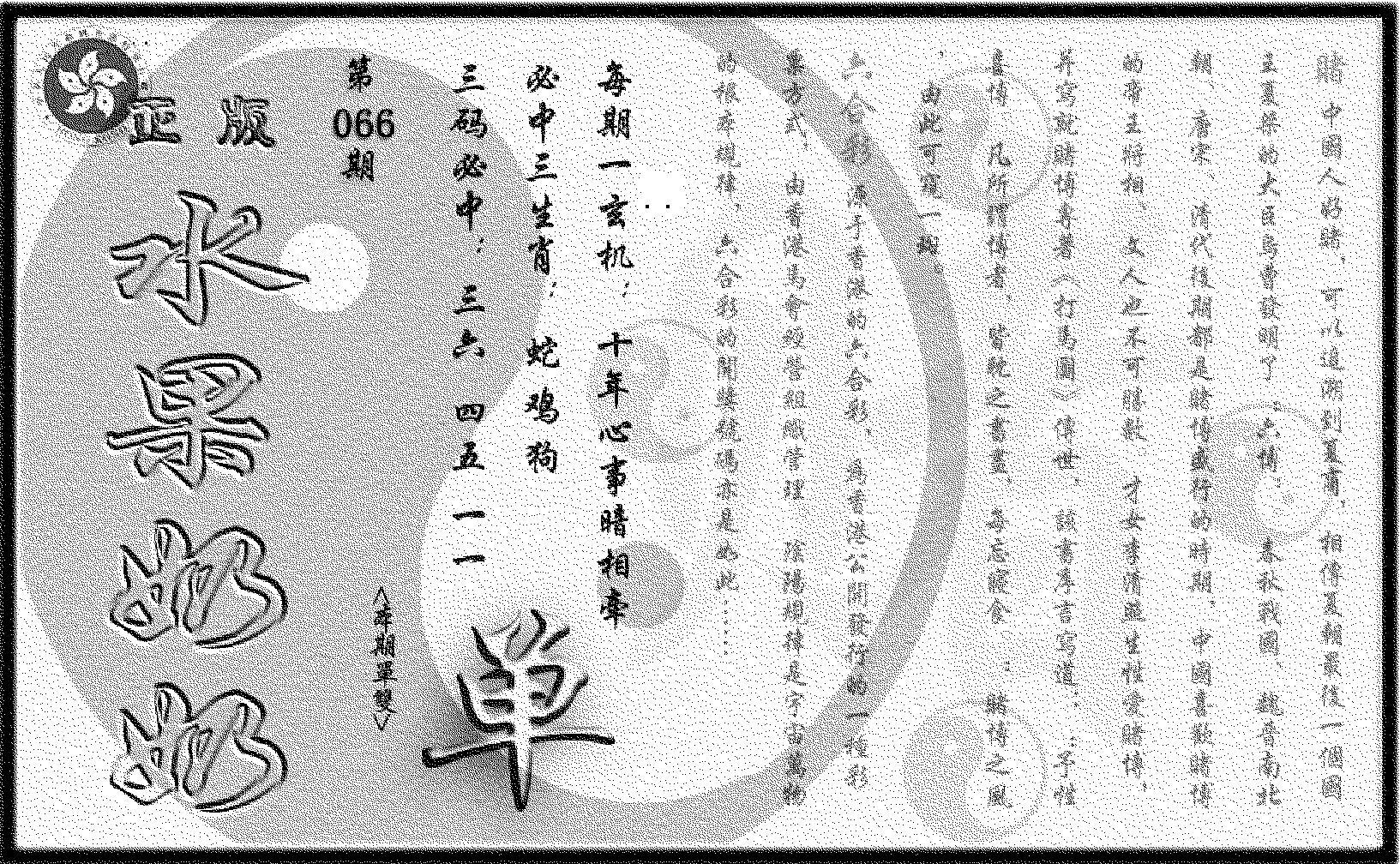 066期(九龙单双攻略)正版(黑白)
