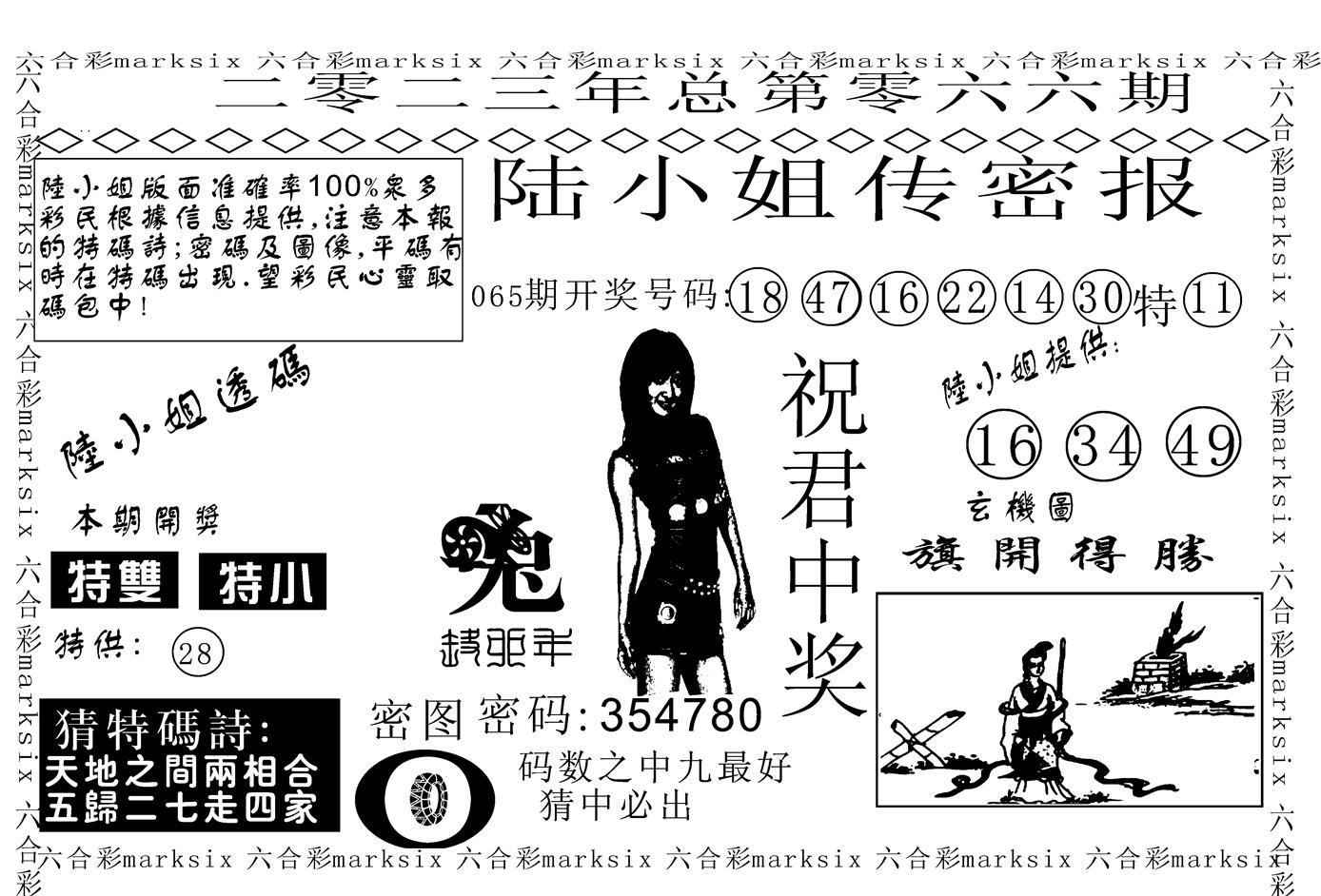 066期陆小姐传密A(黑白)