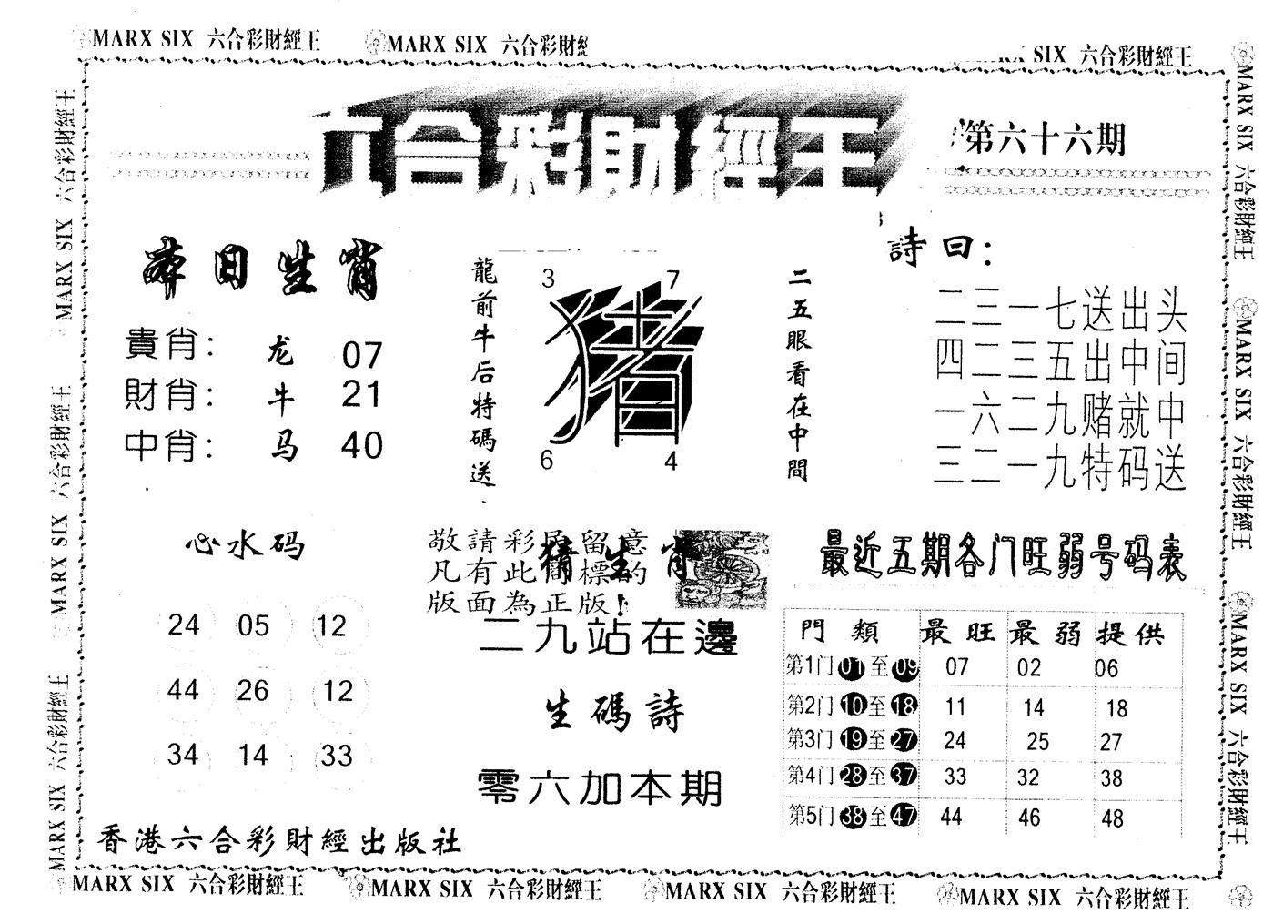 066期另版财经王一(黑白)