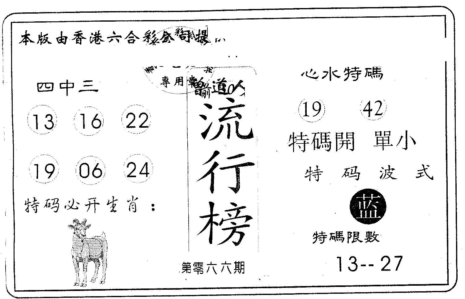 066期流行榜(黑白)