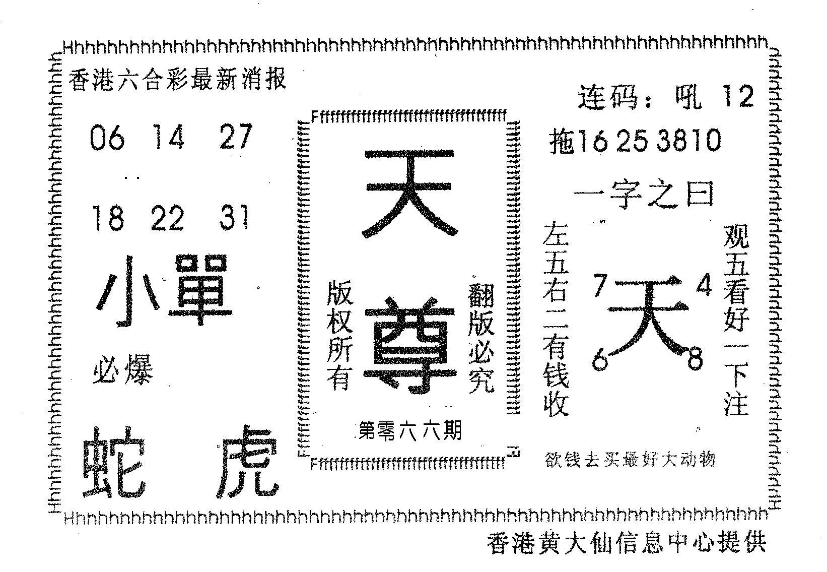 066期天尊(黑白)
