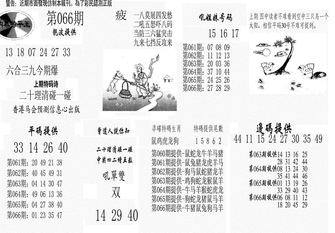 066期内幕特平王(黑白)