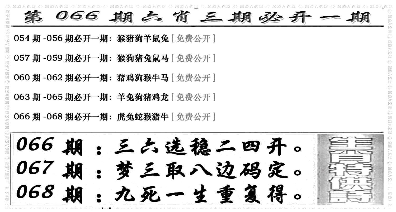 066期六合兴奋剂(黑白)