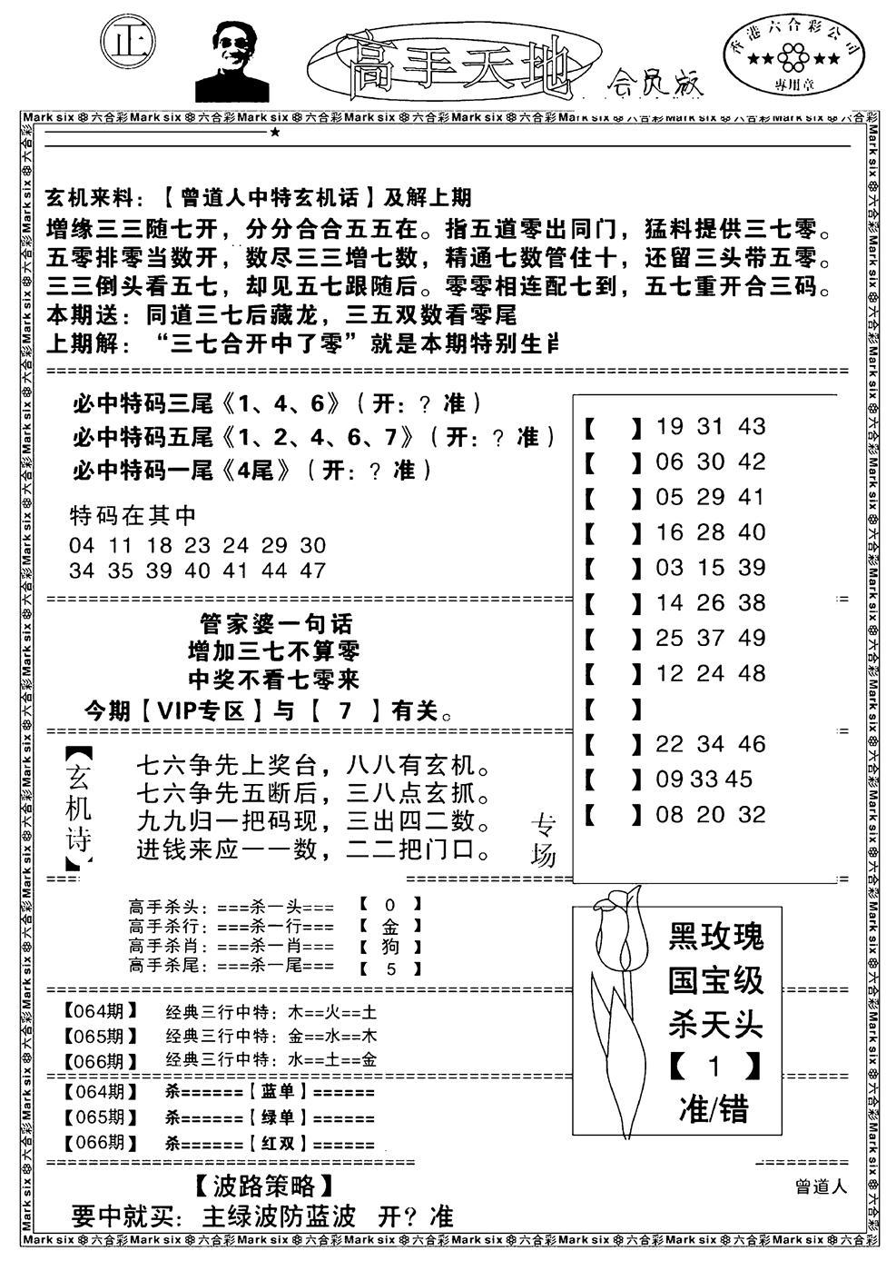 066期高手天地(黑白)