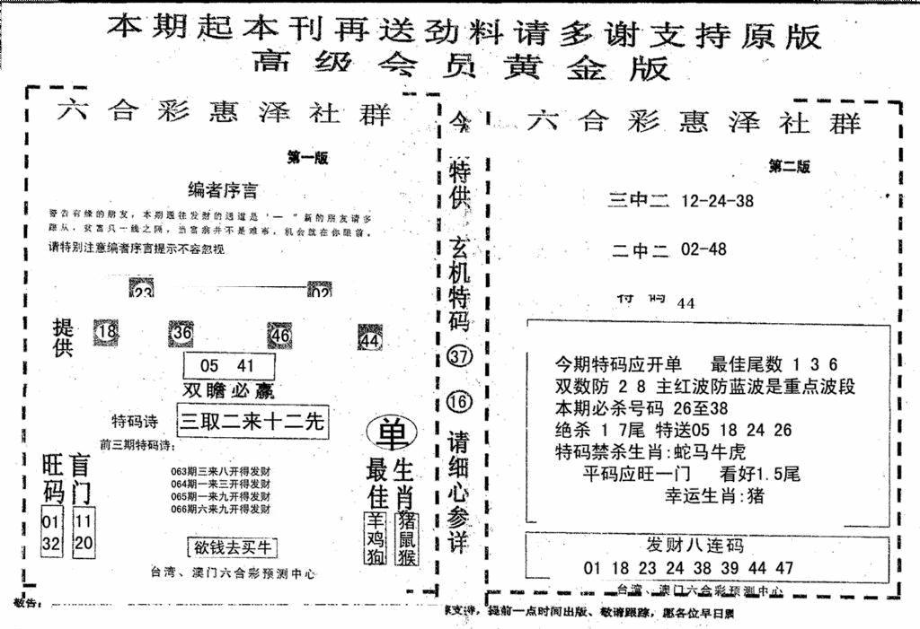 066期高级会员黄金版(黑白)