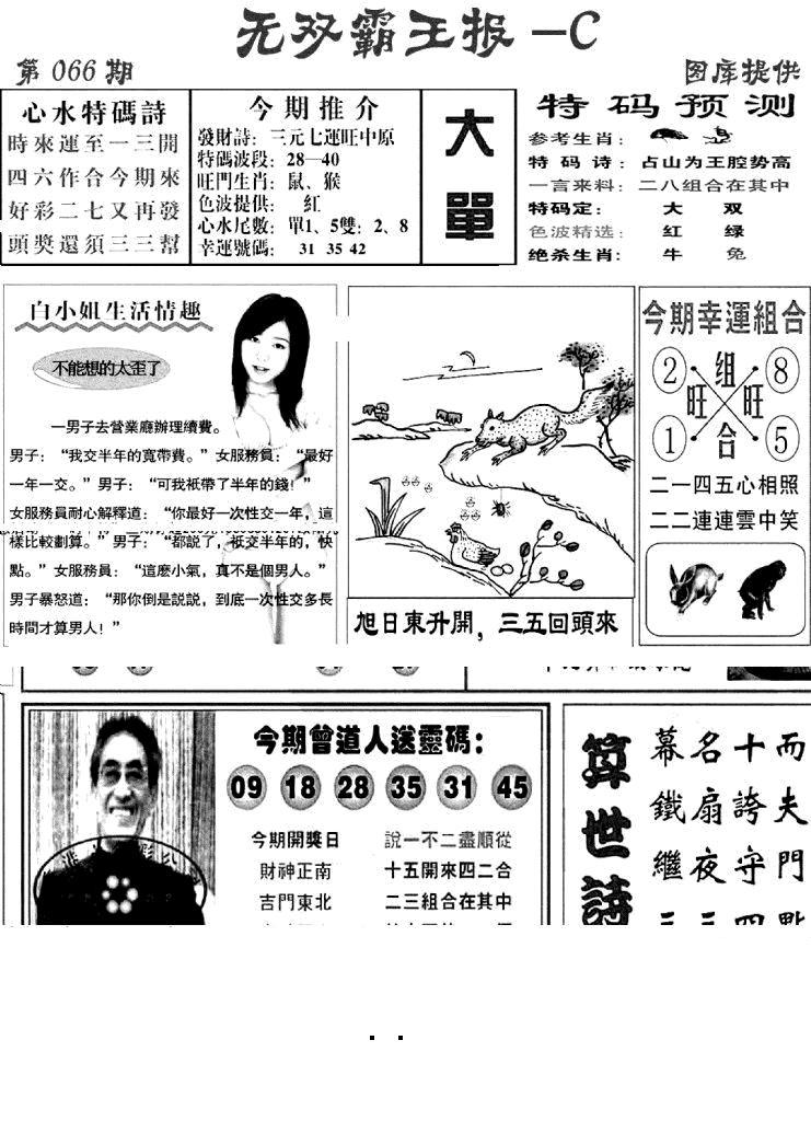 066期无双霸王报C(黑白)